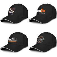 Unisexe FedEx Blanc Le monde de la mode Baseball Sandwich Hat équipe personnalisée Chauffeur de camion Cap d'Orange Old Logo Denny Hamlin Federal Express 3D