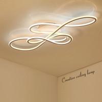 Doppia Glow luci principali moderne a soffitto per soggiorno camera da letto lamparas de techo oscuramento plafoniere lampada infissi