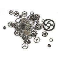 Yaklaşık 100 adet / grup DIY takı Yapımı Vintage Metal Karışık Gears Steampunk Dişli Kolye Charms Bronz Bilezik Aksesuarları