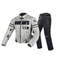 Chaqueta de motocicleta Motocross Trajes de motocross Pantalones Pantalones de hombre Chaqueta Moto Chaqueta Protectora Armadura Ropa de Motocicleta Tamaño M-3XL