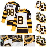 88 David Pastrnak Boston Bruins 2019 الشتاء الكلاسيكي Zendo Chara Brad Marchand David Krejci Patrice Tuukka Rask Kevan Miller Hockey Jersey