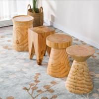 Массив дерева пирса оригинальные деревянные сваи и столовая, гостиная стул, кафе, творческий стул низкий стул для домашнего использования