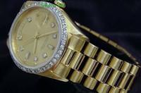 Brand New Day-Date Qualità Presidente oro giallo 18k orologio w / Gold Diamond Dial / Sport Orologi da polso automatico della vigilanza di Mens Lunetta Uomo