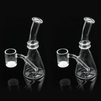 5. 6 Inch Mini Quartz Bong Water Pipe dab rig with OD 25mm qu...