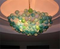 100% Mouth Сгорел CE UL боросиликатного стекла Murano Чихули Art Glass Болл дизайн хрустальной люстры для свадьбы
