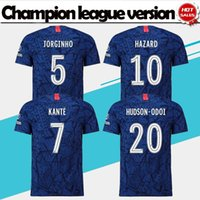 Version ligue des champions Accueil Maillots de football bleus # 7 KANTE # 9 HIGUAIN 19/20 Nouvelle saison # 18 GIROUD # 22 Uniformes de football WILLIAN en vente