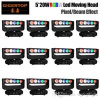 Freeshipping 12 Einheiten 130W bewegliche Hauptlicht DJ Beam LED-Spot-Licht mit Gobo-Farbrad Disco 5x20W RGBW Quad Farbe Pixel-Steuerung