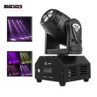 SHEHDS Mini LED 10W LED Beam Moving Head Light High Power 10Watt Quad Stroboscope LED Strong Beam Light for Party Disco DJ Light