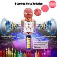 마이크 1 레코더 휴대용 microfone 노래 LED 조명 무선 마이크 전문 가라오케 블루투스 마이크 스튜디오 플레이어