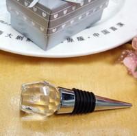 Cristalino romántico del rosa blanco del tapón del vino de la botella por los regalos del banquete de eventos de retorno fuentes de la boda