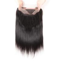Mänskligt hår 10A Brasiliansk Virgin Human 360 Lace Frontal 100% Naturligt Obehandlat Remy Hair Natural Color Baby Hair