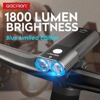 Bike Lights GACIRON 1800 Lumen Light LED LED USB Riambravole Manubrio Batteria Ricaricabile Bicycle Faro Lampada Accessori Set