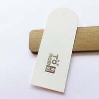 Hangtag Kleidung Tag Hang Tag Custom 400gsm Pure White Art Paper Silber Hot Stamped Hang Tag Für Kleidung Grußkarten