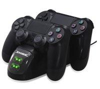PS4 contrôleur joypad joystick poignée USB chargeur double USB Station Dock de recharge rapide pour Playstation 4 PS4 Slim / PS4 Pro 20pcs DHL