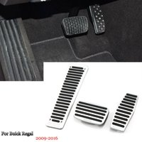 Araba Alaşım Hızlandırıcı Gaz Fren Footrest Pedal Plakası Pad Kapak Fit For Buick Regal 2009-2016