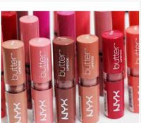 NYX mantequilla lápiz labial 12 colores Batom Mate impermeable Maquillaje Maquillaje De larga duración del lápiz labial ny Tinte Brillo de labios palillo de Marca