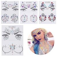 1set 3D Akrilik Mücevher Glitter Göğüs Göz Rhinestone Etiketler Yapışkan Boobs Takı Kristal Dövme süsleme Aracı Vücut Makyaj Aracı
