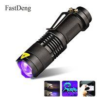 Linterna UV LED Antorcha Ultravioleta Con Función de Zoom Mini UV Luz Negra Mascota Detector de Manchas de Orina Escorpión Caza DLH051