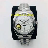 GB ОВЕРСИЗ 4300V Мужские часы Многофункциональный Годовой календарь Наручные часы Cal.1120QP Автоматическая Сапфир фазы Луны Часы из нержавеющей стали