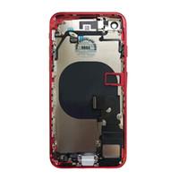 30pcs Tam Konut Flex Kablo Parçaları Meclis ile IPhone 8 8 Artı Geri Orta Çerçeve Şasi Pil Kapı Arka Kapak Body