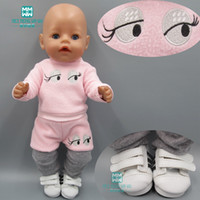Clothes for doll fits 43 cm Baby Born zapf dolls and 45cm girl doll girl dress Pink casual coat + hat + socks