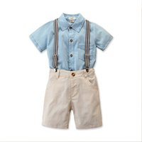 1-5Y Toddler Baby Kids Boy Gentleman Clothes Short Sleeve Shirt Tops +Shorts Pants 2pcs Outfits