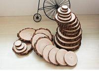 Toptan fincan paspaslar ahşabın dilimleri ahşap bardak altlıkları söğüt odun bardak ıslah pedleri 6cm 8cm 12cm 14cm