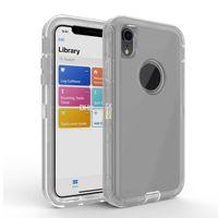 Transparent Heavy Duty Defender absorption des chocs Crystal Clear pour iPhone XS Max XR 8 Plus Samsung Note 9 S10 Aucun clip OPP sac