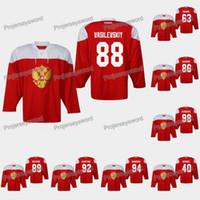 Rusia Andrei Vasilevskiy 2019 IIHF Campeonato Mundial Jersey Ilya Kovalchuk Kirill Kaprizov Nikita Kucherov Nikita Niderov Nikita Gusev