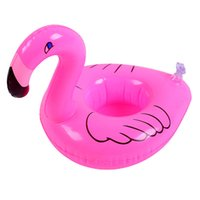 Pink Flamingo Floating Inflatable Drink holder Can bottle un...
