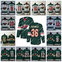 Minnesota Wild 36 Mats Zuccarello 11 Zach Praise 16 Jason Zucker 40 Devan Dubnyk 12 Eric Staal 9 Mikko Koivu Ice Hockey Jersey