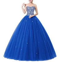 2019 New Sexy Crystal Beading Ball Gown Quinceanera Dresses ...