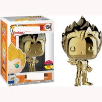 Funko Pop Dragon Ball Super Vegeta Galvanik Gold Amin Dragon Ball 154 Vinyl Action Figure Sammeln Modell Spielzeug