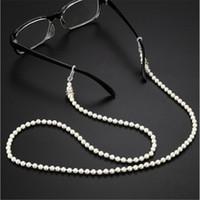 20 PC Moda Branco Pérola Frisada Óculos de Sol Óculos de Leitura Óculos Cadeia Titular Corda Corda Para Homens Mulheres