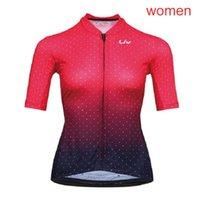 LIV equipo ciclismo manga corta jersey verano de manga corta de manga corta, secado rápido transpirable, a prueba de viento, a prueba de viento, ropa de bicicleta 72909