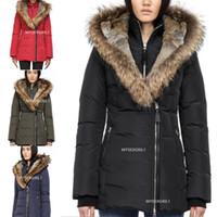 أعلى جودة معطف الشتاء الشهيرة الفراء أسفل سترة النساء chaquetas معطف الكندي الفراء كبير مقنع كندا معطف الشتاء الفراء أسفل سترة دودون