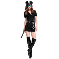 Trajes de Halloween para adultos Fardas Personagem Policial terno cosplay Halloween Mulheres role-playing Vestuário Dance Party