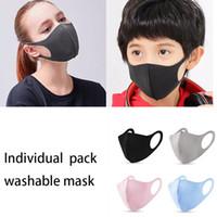 100pcs emballage individuel Masque Designer Visage Couverture PM2,5 respirateurs réutilisables Masques anti-poussière lavable glace soie coton pour masques Party adultes