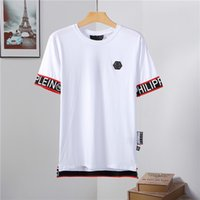 Men' s Color Striped Shirt Cotton Men' s Designer T-...