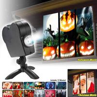 Projecteur LED de la fenêtre de la lampe de projection de lumière crue a conduit la lumière laser de Noël projection Halloween Flood Lampes de projection