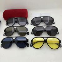 Качество унисекс GG0463S Легкого Plank Pilot Sunglasses58-13-150concise импортирована дощечка большой Rim рамы HD линзы солнцезащитных очков полного комплекта-упаковка