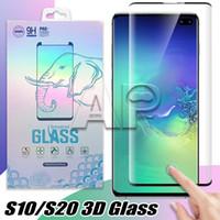 حافة الغراء منحنى حامي الشاشة الزجاج المقسى لسامسونج غالاكسي S21 S20 Ultra S10 ملاحظة 10 S9 S8 زائد S7