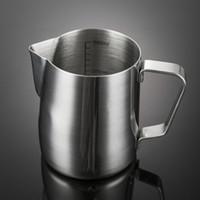 Jarra de espuma de leche de acero inoxidable de 12 oz Jarra de capuchino Taza de café Jarra vertido Taza de café espresso Latte Art Mug