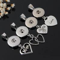 Toplu 18 MM Noosa Topakları Snap Düğmesi Kolye Hayat Ağacı anne Kalp Anahtar Melek çiçek charm Zencefil Yapış kolye Takı Yapımı Için