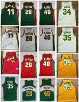 NCAA Vintage 20 The Glove Gary Payton Kevin Durant 40 Rign Man Shawn Kemp 11 Detlef Schrempf Ray Allen 34 كرة السلة الفانيلة