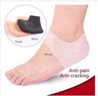 Silicone Gel idratante calzini del pattino del tallone incrinato Protector High Heel protezione sfogare la facilità dolore del tallone del piede Protezioni Nuovo