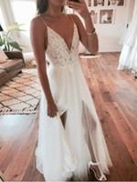2020 nouvelles images réelles de luxe Une ligne Robes de mariée épaules Applique dentelle Cour train robe de mariée Robes de mariée Plus Size Robes