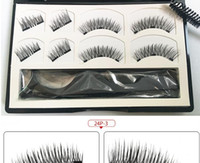 8 Pieces 3d Magnetic False Eyelashes Natural Wispy Faux Mink...