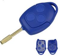 Лучшее качество ключи от машины для Ford blue remote 3 кнопки Замена 3 Кнопка Transit Connect Set Дистанционный Ключ Оболочки Для Ford Blue