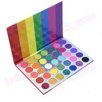 35 Arco-íris brilhante sombra das cores da paleta Fosco Shimmer da composição da sombra Pallete Pigmento de seda pó sombra para os olhos Cosméticos